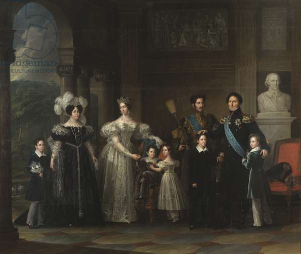 The Bernadotte family, 1837 (oil on canvas)