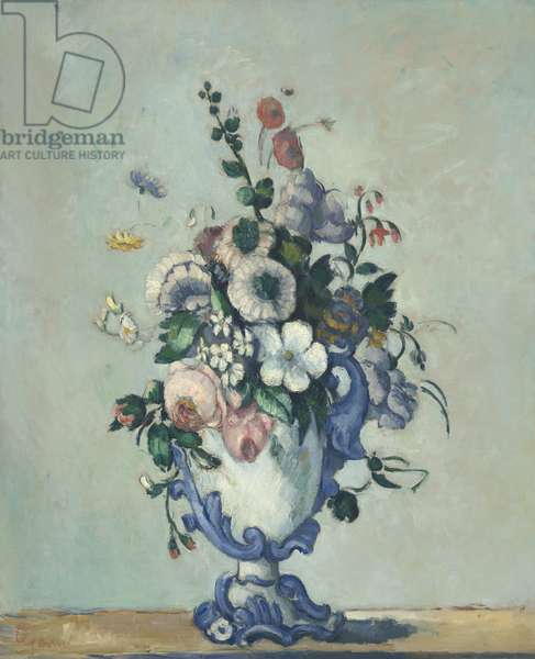 Flowers in a Rococo Vase, c.1876 (oil on canvas)