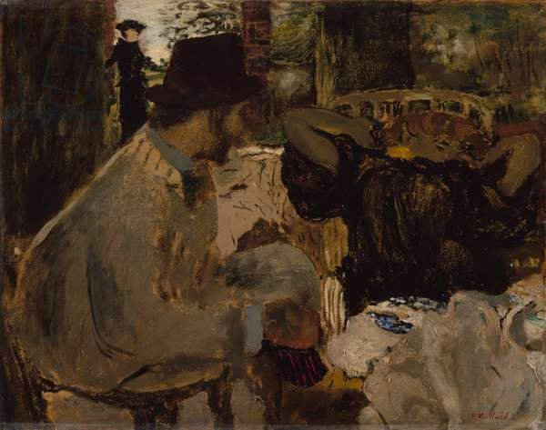 Conversation, 1897-8 (oil on cardboard)