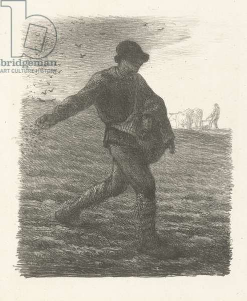 The Sower, after Millet, c.1881-82 (lithograph)
