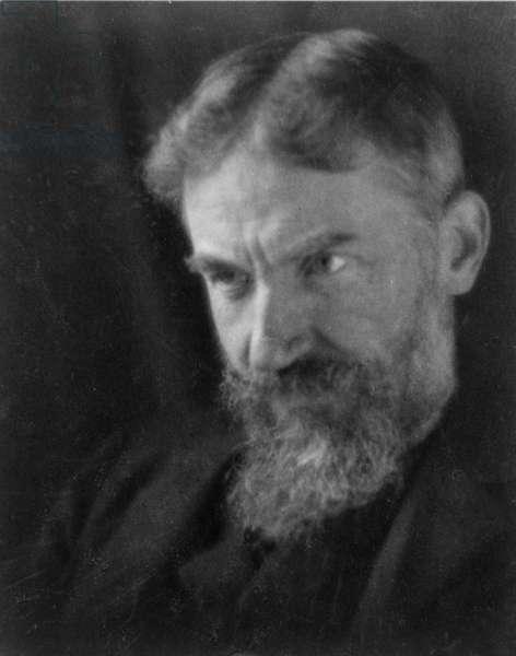 George Bernard Shaw, c.1905 (b/w photo)