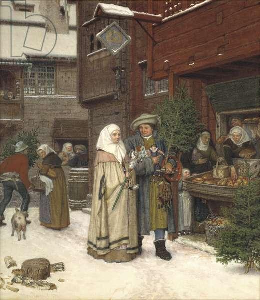 The Christmas Fair, 1872 (w/c)