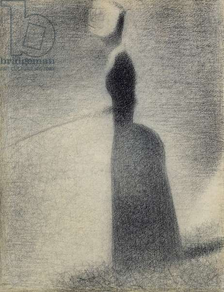 A Woman Fishing, 1884 (conte crayon)