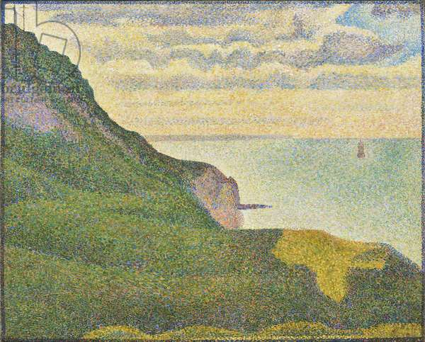 Seascape at Port-en-Bessin, Normandy, 1888 (oil on canvas)