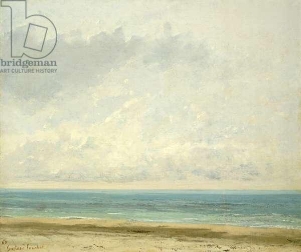 Calm Sea, 1866 (oil on canvas)