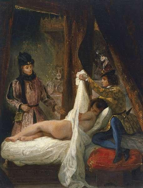 Louis d'Orleans showing his Mistress, c.1825-26 (oil on canvas)