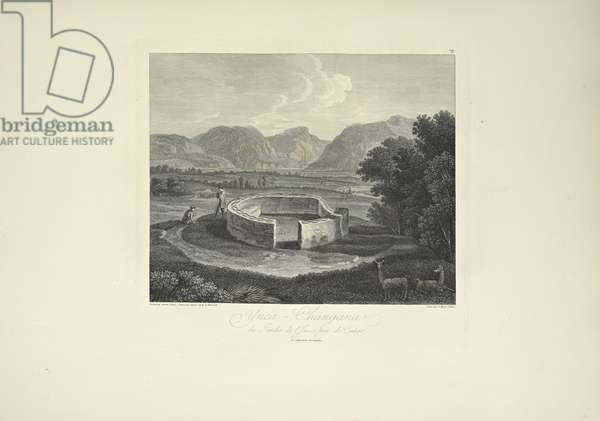Ynca-Chungana, from the Garden of the Inca near Canar, drawn by Gmelin, engraved by Morel, illustration from 'Vues des Cordillères et Monumens des Peuples Indigènes de l'Amérique' by Alexander von Humboldt and Aime Bonpland, 1813 (engraving)