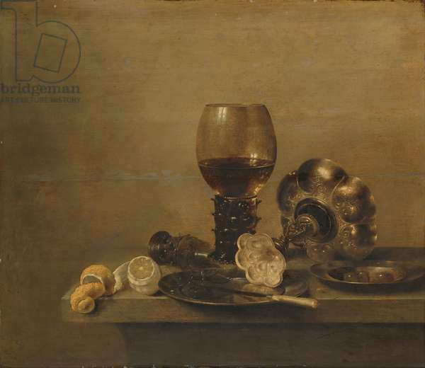 Still Life with a Broken Glass, 1642 (oil on panel)