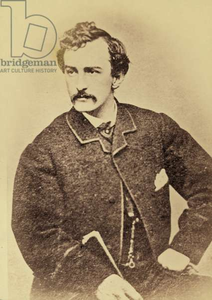 Portrait of John Wilkes Booth, 1861-65 (albumen print)
