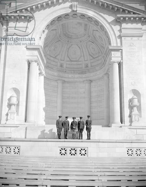 Tomb of Unknown Soldier, Arlington National Cemetery, Virginia, 1938 (b/w photo)