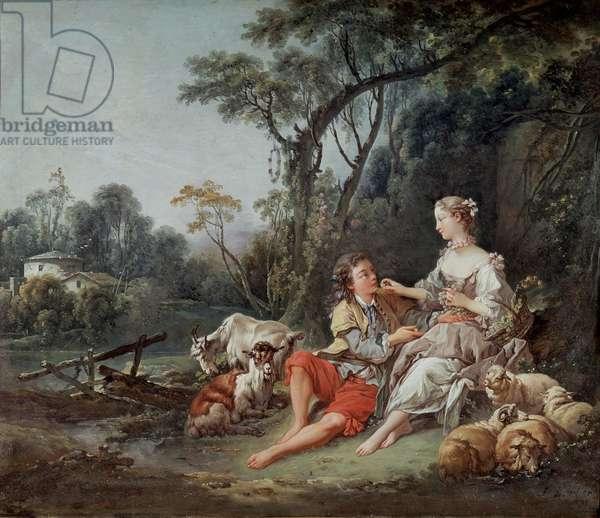 """""""Pense-t-il aux raisins?"""", 1747 (oil on canvas)"""