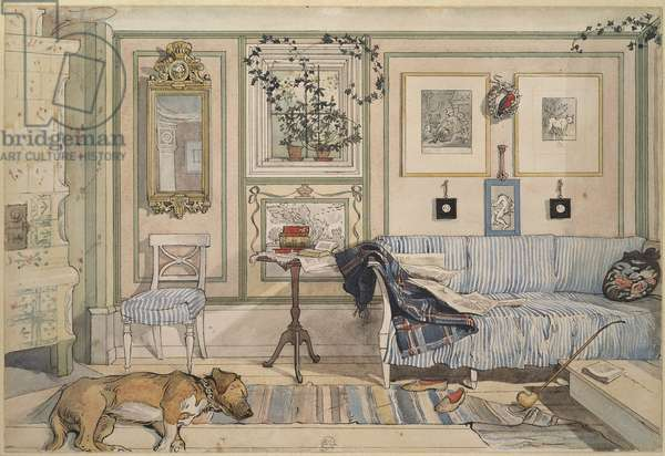 Cosy Corner, from 'A Home' series, c.1895 (w/c on paper)