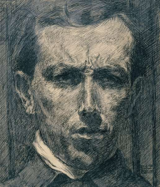 Self-Portrait, 1910 (ink, wash and graphite on paper)