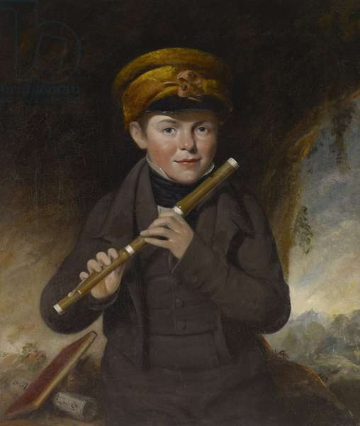 John Gurney, the Little Flute Player, c.1800 (oil on canvas)