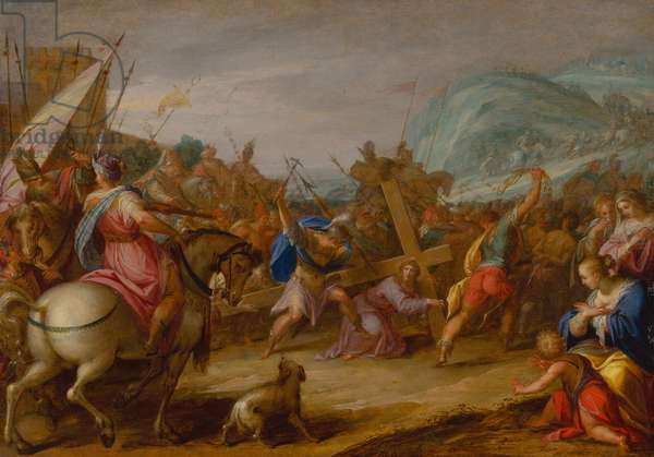 Carrying the Cross, 1587 (oil on wood)