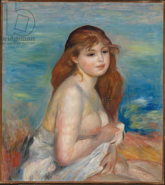 The Blonde Bather, c.1885-87 (oil on canvas)