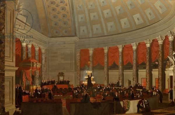 The House of Representatives, c.1822 (oil on canvas)