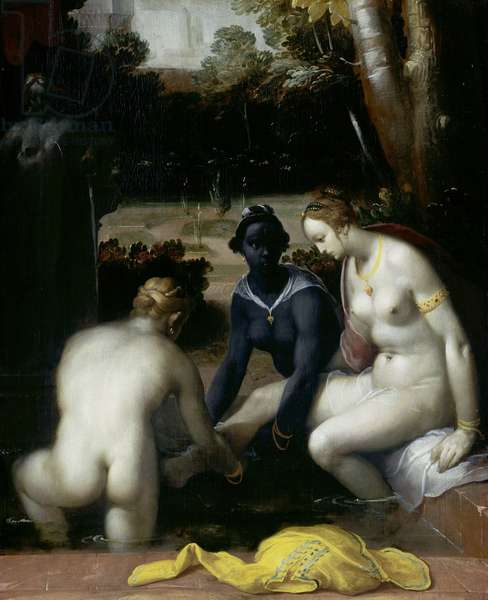 Bathsheba at her Toilet, 1594 (oil on canvas)