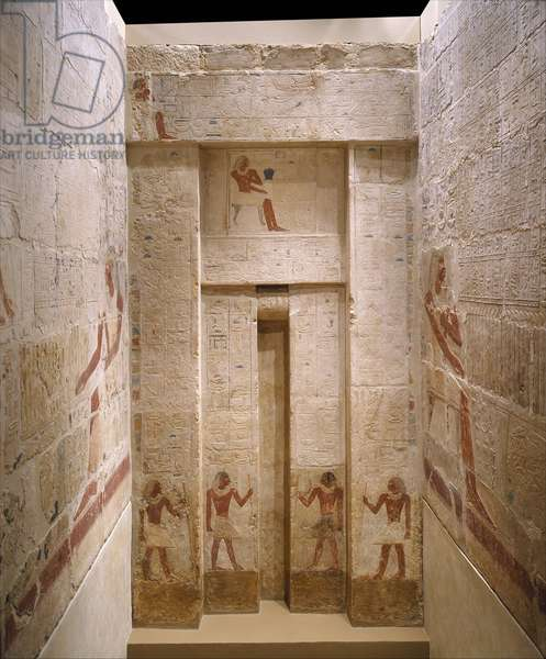 Mastaba Tomb of Perneb, c.2381–2323 BC (limestone and paint)