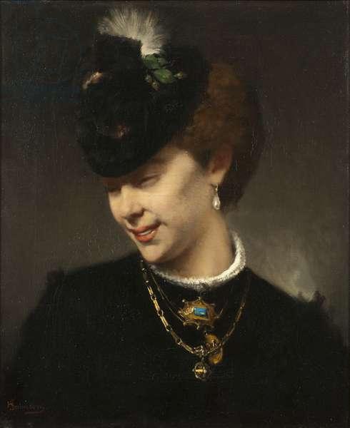 A Parisian Lady (oil on canvas)