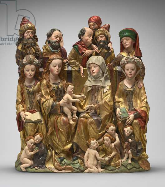The Holy Kinship, c.1480-1490 (polychromed wood)