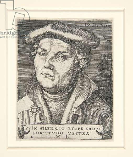 Portrait of Martin Luther, 1530 (engraving)
