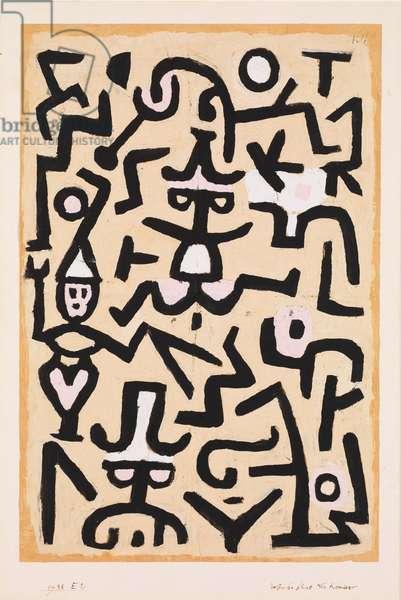 Comedians' Handbill, 1938 (gouache on newsprint mounted on cardboard)