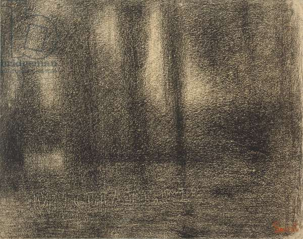 Poplars, c.1883-4 (conte crayon on michalett paper)