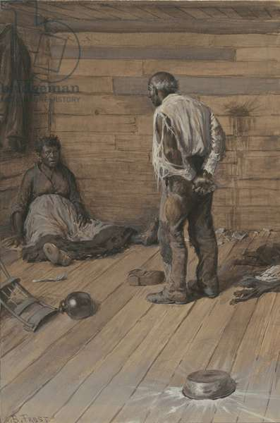 A Conjugal Difference, 1884 (watercolour and gouache on wove paper)