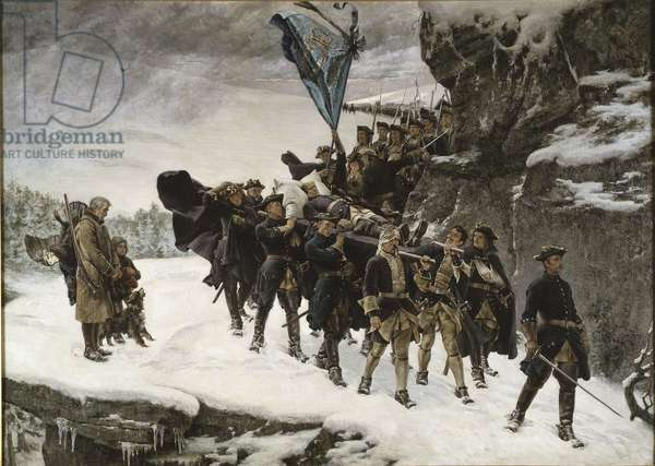 Bringing Home the Body of King Carl XII of Sweden, 1884 (oil on canvas)