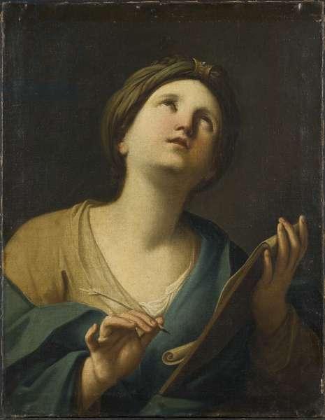 A Sibyl (oil on canvas)