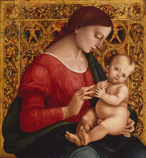 Madonna and Child, c.1505-07 (oil and gold on wood)