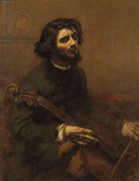 The Cellist (self-portrait), 1847 (oil on canvas)