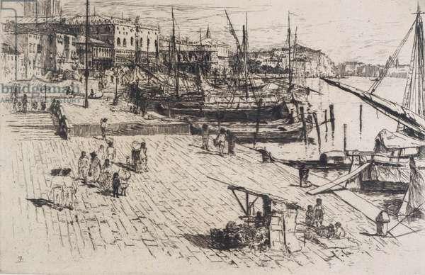 Riva degli Schiavone, No.1, 1880 (etching & drypoint)