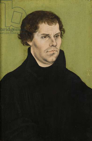 Portrait of Martin Luther, 1527 (oil on panel)