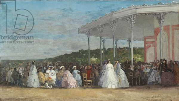 Concert at the Casino of Deauville, 1865 (oil on canvas)