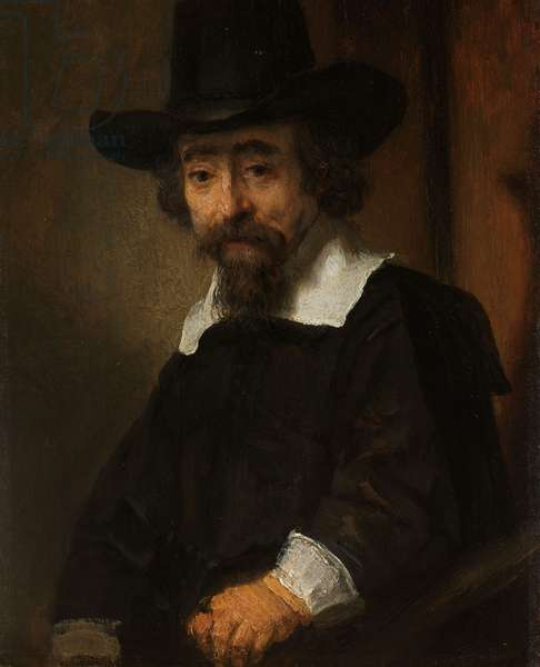 Portrait of a Man, thought to be Dr. Ephraïm Bueno, 1645-47 (oil on panel)