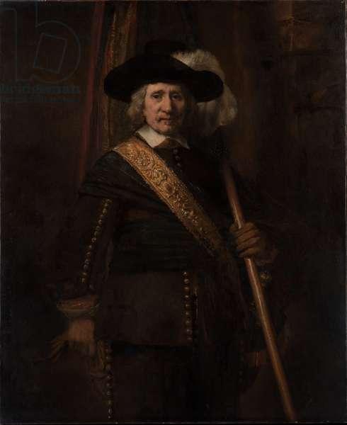 The Standard Bearer, Floris Soop, 1654 (oil on canvas)