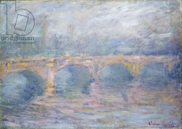 Waterloo Bridge, London, at Sunset, 1904 (oil on canvas)