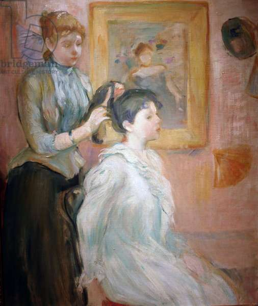 The Coiffure (oil on canvas)