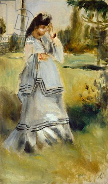 Woman in a Park, 1866 (oil on canvas)