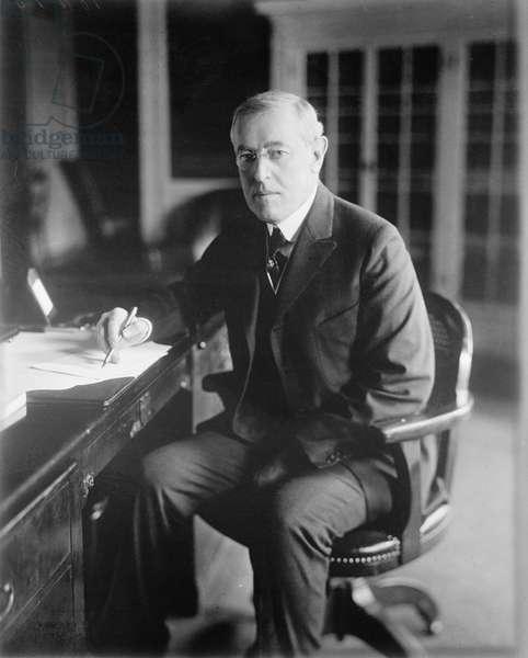 Woodrow Wilson, c.1918 (b/w photo)