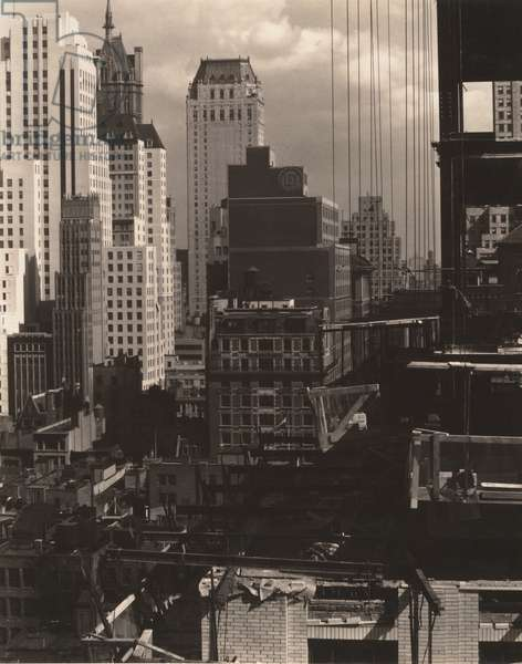 From My Window at An American Place, North, 1931 (gelatin silver print)