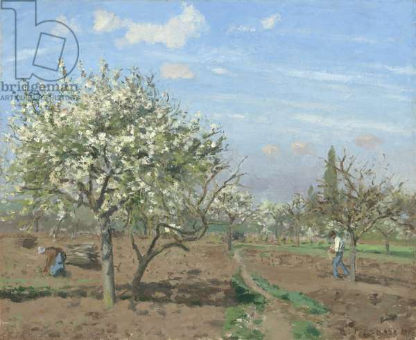 Orchard in Bloom, Louveciennes, 1872 (oil on canvas)