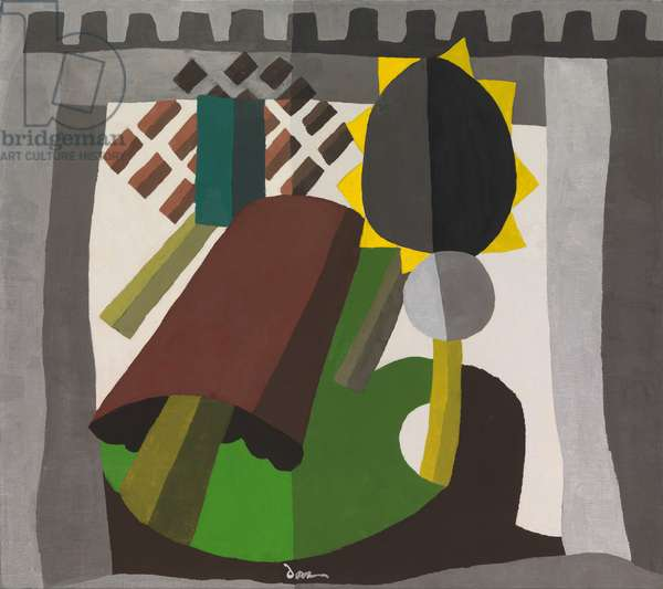 The Inn, 1942 (wax emulsion and aluminum paint on canvas)