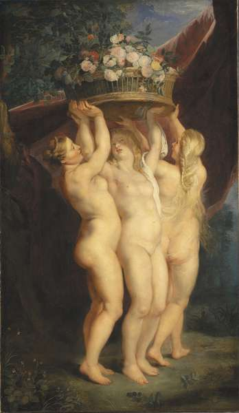 The Three Graces, 1620-1625 (oil on canvas)