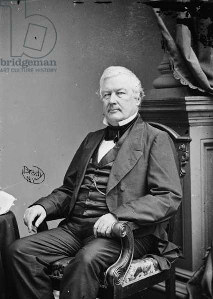 President Millard Fillmore, 1855-65 (b/w photo)