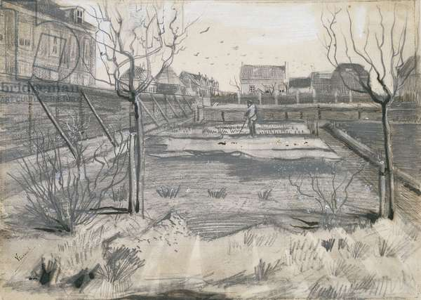 Flower Nursery on the Schenkweg in The Hague, 1882 (pen and pencil on paper)