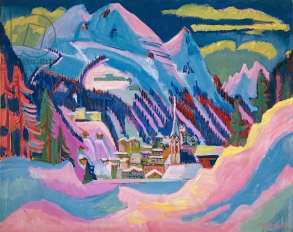Davos in Winter, 1923 (oil on canvas)