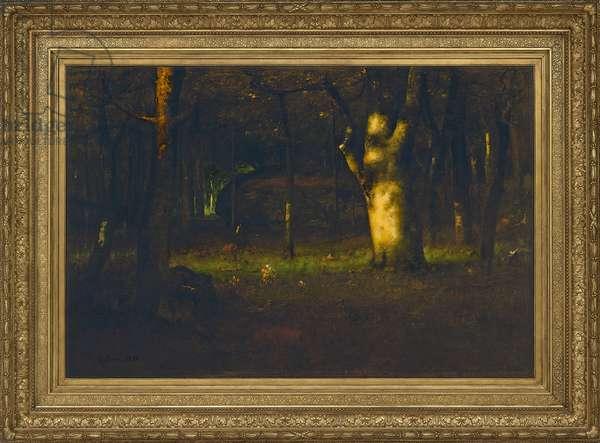 Sunset in the Woods, 1891 (oil on canvas)
